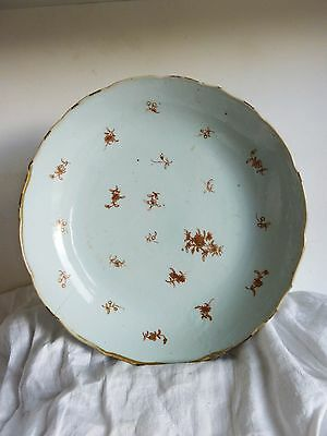 Grand Plat Creux Porcelaine Chine COMPAGNIE DES INDES 18e Antique Chinese Dish