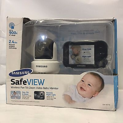 BK1S76 Samsung SEW-3037W SafeVIEW Baby Monitoring System IR Night Vision PTZ 3.5