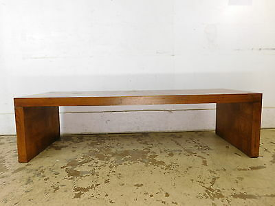 Vintage c1970 Mid Century Modern Parquetry LANE Coffee Table Waiting Room Bench