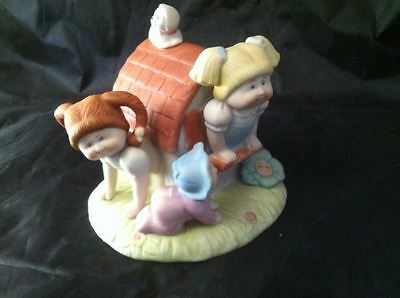 Cabbage Patch Kids Vintage Fine Porcelain Clubhouse Baby Girls Playing