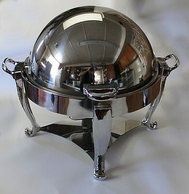 Oneida Ouverture 4 qt. Round Chafer w/180 degree Roll Top Cover