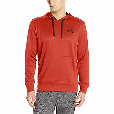 ADIDAS Men's Performance Lightweight Pullover Hoodie Red/Black Large