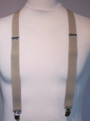 Vintage Braces - Clip On/Adjustable - Beige