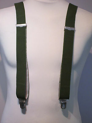 Vintage Braces - Clip On/Adjustable - Green