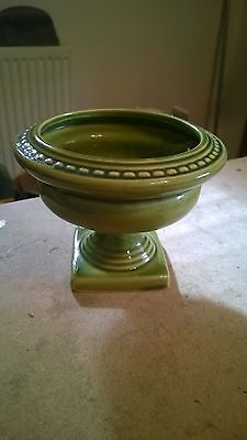 EARLY DARTMOUTH POTTERY LOW URN POSY VASE 10cm Tall 12cm Diameter