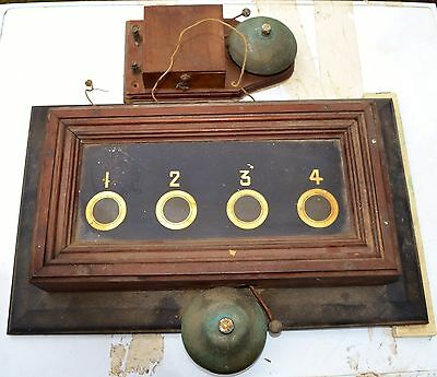 A Victorian/Edwardian Mahogany Servants or Butlers Bell Indicator Box c.1900