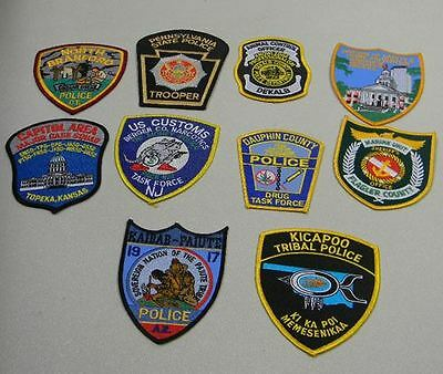 Police Law Enforcement Patches Lot of 10 North Branford Bag #4