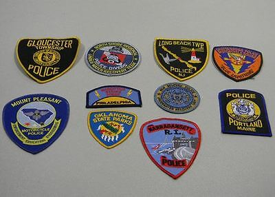 Police Law Enforcement Patches Lot of 10 Gloucester Township Bag #22