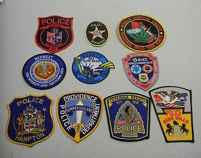 Police Law Enforcement Patches Lot of 10 Midwest Bag #15