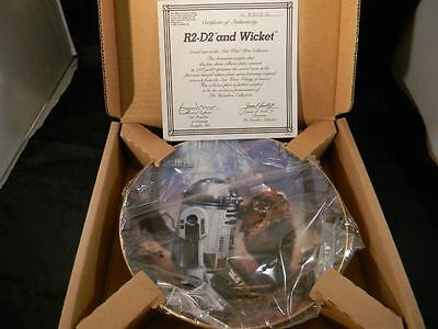 Star Wars R2-D2 and Wicket the Ewok Limited Numbered China Plate, Hamilton 1986