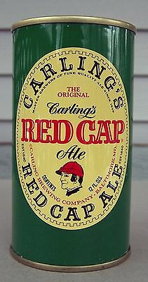 #1 Carling's Red Cap Ale Tab Top Beer Can, 12 oz, Carling Brewing, Cleveland, OH