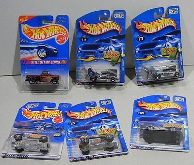 Hot Wheels Mixed lot  6 Steel Stamp Series Celica Baby Boomer Bag 105