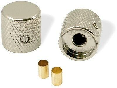 Nickel Barrel Knobs For Fender Telecaster Tele Guitar (Set Of 2) Usa & Metric