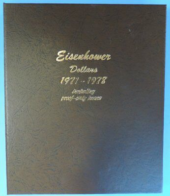 1971 - 1978 Complete Set of Eisenhower Dollars $1 in Dansco Album w Proof Issues