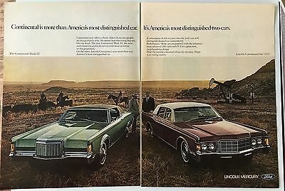 Lincoln 1969 Magazine vintage Ad -- Redline Hot Wheels of the Day