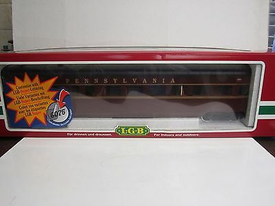 LGB G #32590 Pennsylvania Streamline Observation Car - Lighted Interior