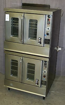 Montague 2-115 Series Full Size Double Stack Gas Convection Oven #2