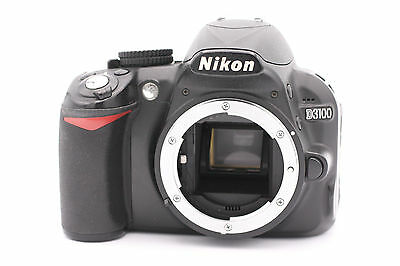 Nikon D D3100 14.2MP Digital SLR Camera - Black (Body Only) - Shutter Count: 168
