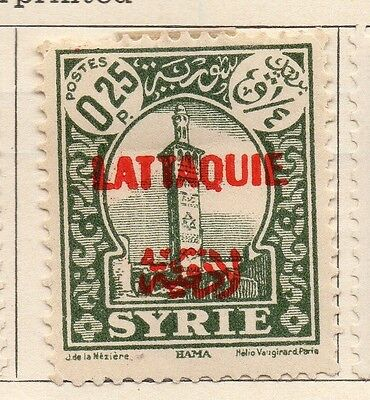 Syria Latakia 1931-34 Early Issue Fine Mint Hinged 25p. Optd 152254