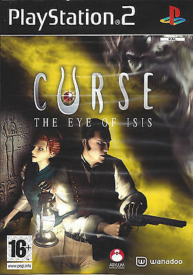 CURSE THE EYE OF ISIS for Playstation 2 PS2 - with box & manual - PAL