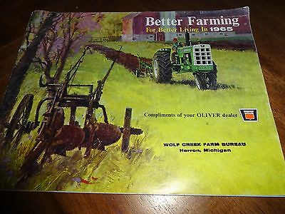 """Oliver """"Better Farming for Better Living in 1965"""" Tractor Sales Brochure"""
