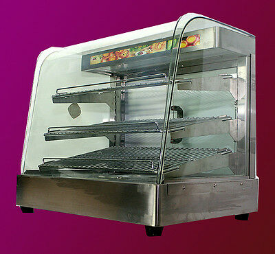 "MTN Commercial Stainless Steel Countertop Food Pizza Display Warmer 25""x23""x17"""