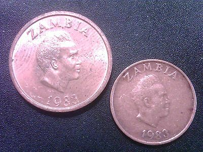 Zambia   One   Ngwee     1983      Two   Ngwee    1983