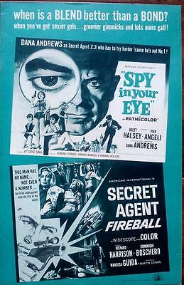 Aip Tries Their Hand At James Bond Man From Uncle Original Spy Pressbook Uncut