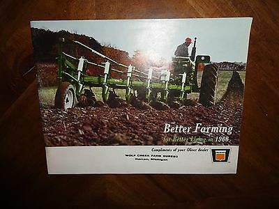 """Oliver """"Better Farming for Better Living in 1966 Tractor Sales Brochure"""