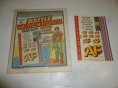 BATTLE ACTION FORCE Comic - Date 01/06/1985 - UK Paper Comic (Inc Free Gift)