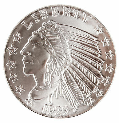 Lot of 5 - 1oz Silver Round - Incuse Indian Head .999 Fine