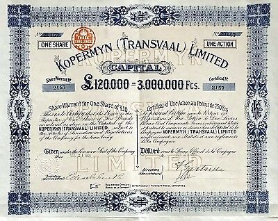 1906 South Africa: Kopermyn (Transvaal) Limited