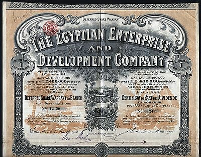 1906 Cairo, Egypt: The Egyptian Enterprise and Development Company