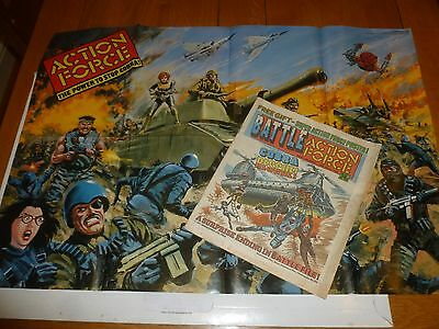 BATTLE ACTION FORCE Comic - Date 29/03/1986 - UK Paper Comic (Inc Free Gift)