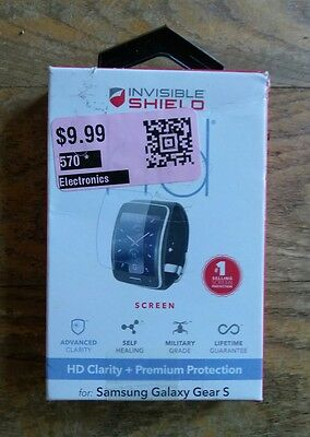 ZAGG InvisibleShield HD Samsung Galaxy Gear S Smartwatch Screen Protector