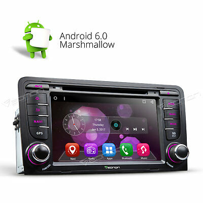GA7157 Android 6.0 Car DVD Player GPS Head Unit OBD2 DAB+ WiFi L For Audi A3 S3