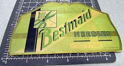 Vintage BESTMAID Sewing Needle Book, around 30 left in booklet, great graphics