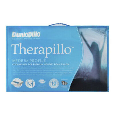 Dunlopillo Therapillo Cooling Gel Top Premium Memory Foam Medium Profile Pillow
