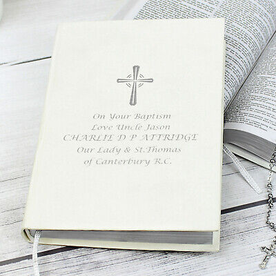 PERSONALISED Holy Bible. Christening Baptism Confirmation Holy Communion Wedding