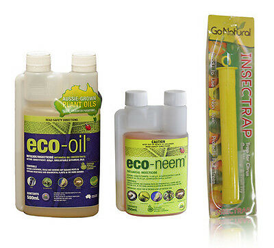Eco-oil, Neem-oil and Yellow Sticky Trap Combo (normally $57)