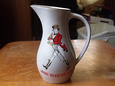 Vintage Johnnie Walker Red Label Pitcher Scotch Whiskey Made in England