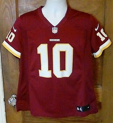 cheap for discount d5cfa 4ad05 EUC NIKE ON Field Washington Redskins Stitched Logo Jersey #10 RG3 YOUTH  Large