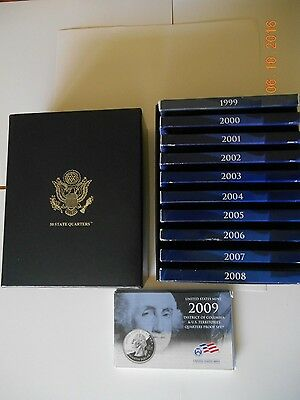 1999-2009 50 State Proof Quarters In U.S. Mint Storage Box, FREE SHIPPING