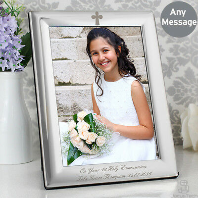 PERSONALISED Engraved PHOTO FRAME. Christening Gift. Baptism Communion. New Baby