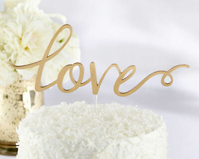 Love Cake Topper Gold Wedding Cake Toppers Remantic Caketop Decorations