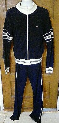 VTG 80's Christian Dior Monsieur Blue & White Jogging Warm Up Track Suit Medium