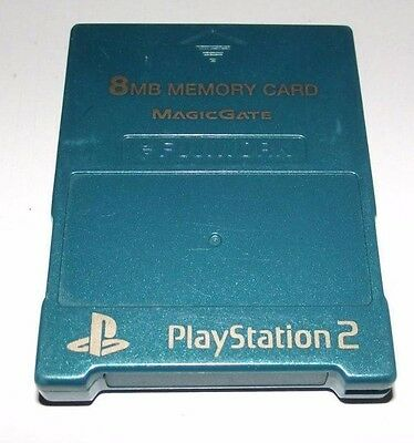 Teal Fujiwork Magic Gate PS2 Memory Card Preloved PlayStation 2 8MB