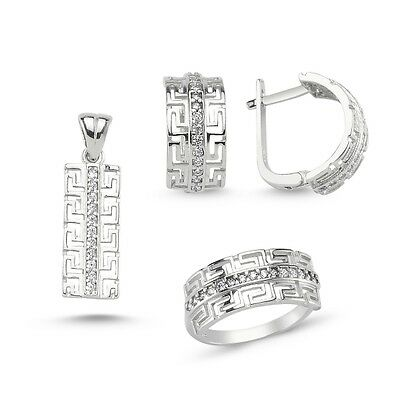 925 Sterling Silver Handmade Jewelry Sublim White Cz Full Sets