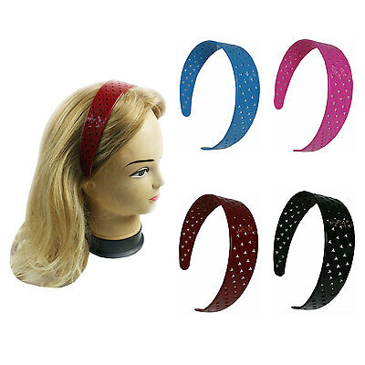 4 PCS Wide Headbands Hair Band Solid Color Assorted Women Girl Stars or Heart