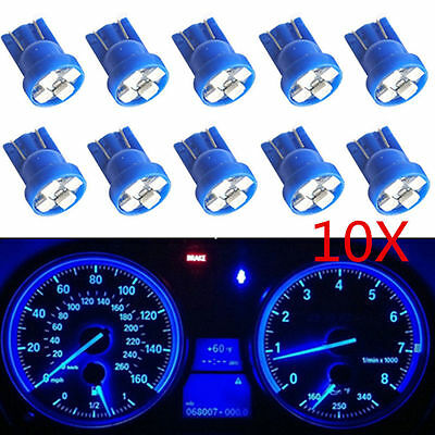 10X T10 Wedge Blue 4-SMD LED Dashboard Light W5W 194 2825 Gauge Cluster Bulbs